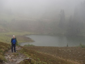 My dad at Hear Lake, wet but still in good spirits!