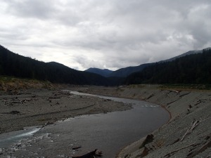Elwha River flowing freely