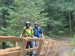 My dad and me on bridge near the hot springs
